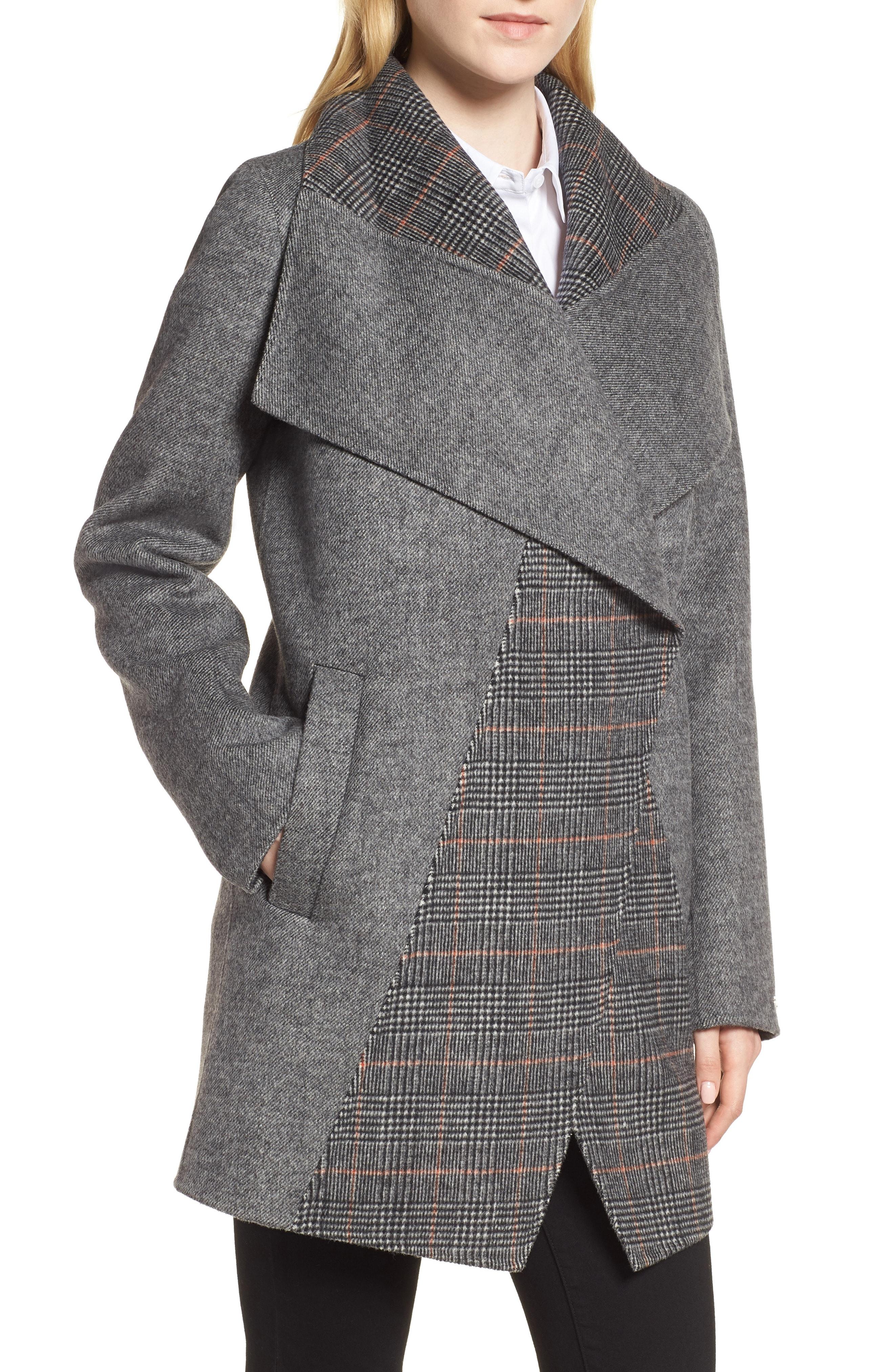 Tahari Nicky Double Face Wool Blend Oversize Coat (Regular & Petite)