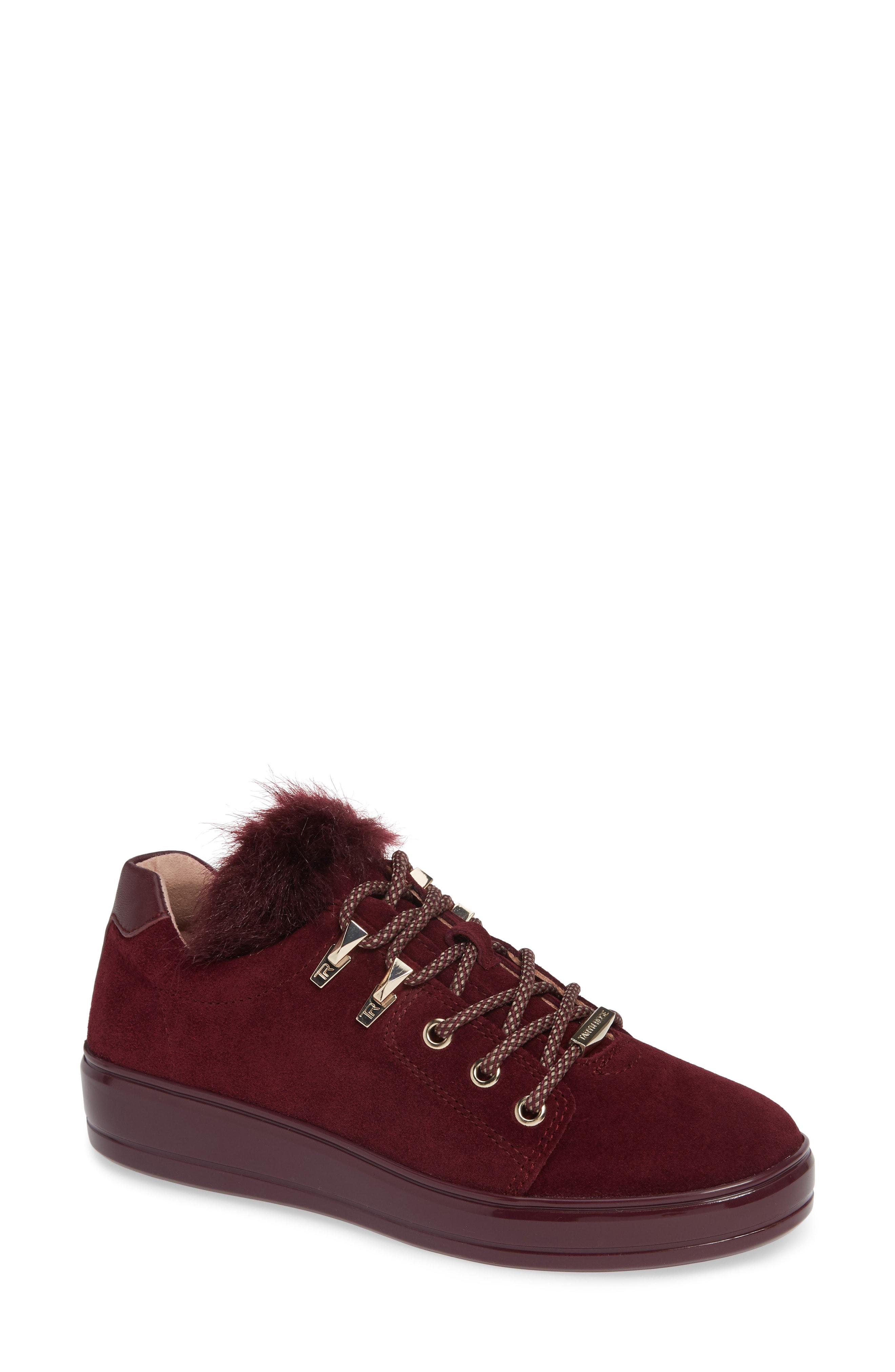 Taryn Rose Georgy Faux Fur Trim Weatherproof Sneaker (Women)