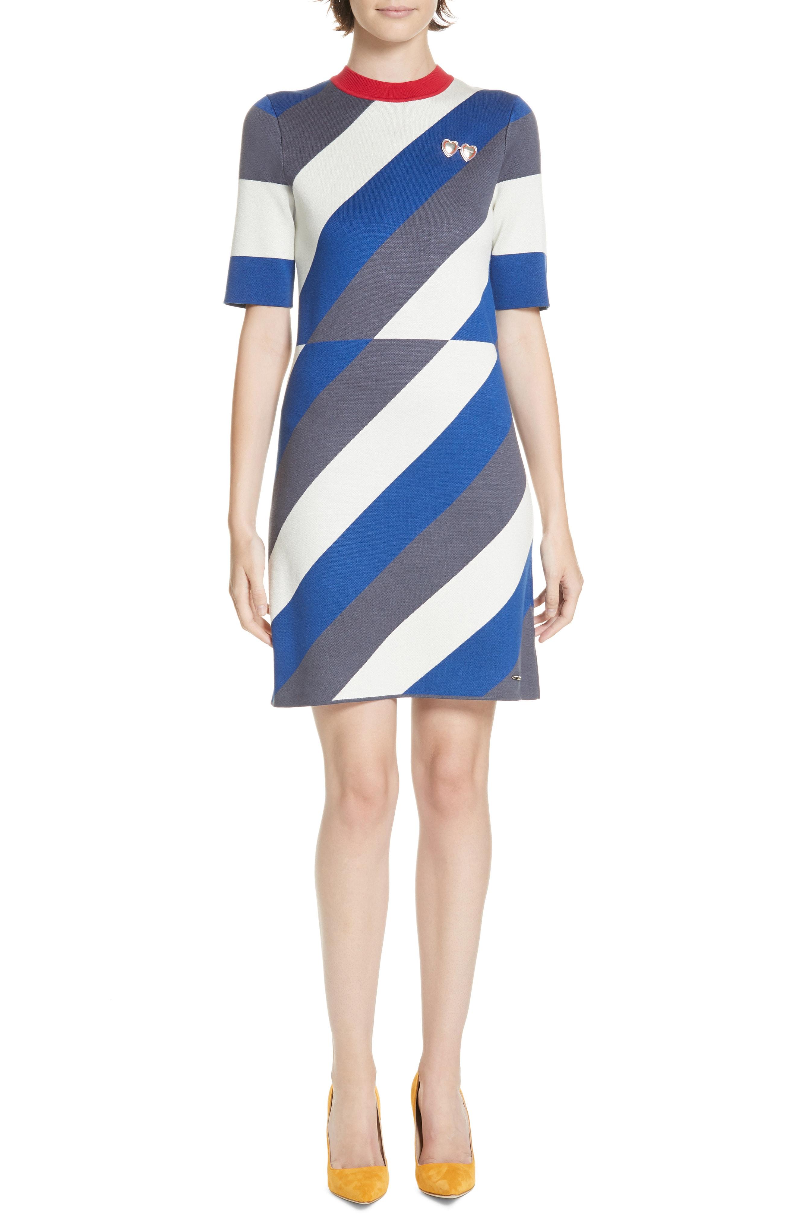 Ted Baker London Colour by Numbers Jaddee Diagonal Stripe Dress