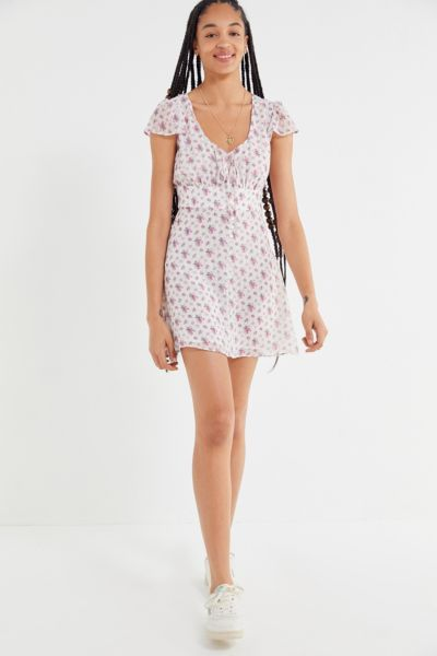The East Order Rainsford Floral Button-Front Mini Dress