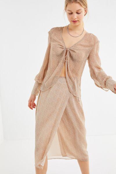 The East Order Vera Animal Print Wrap Skirt