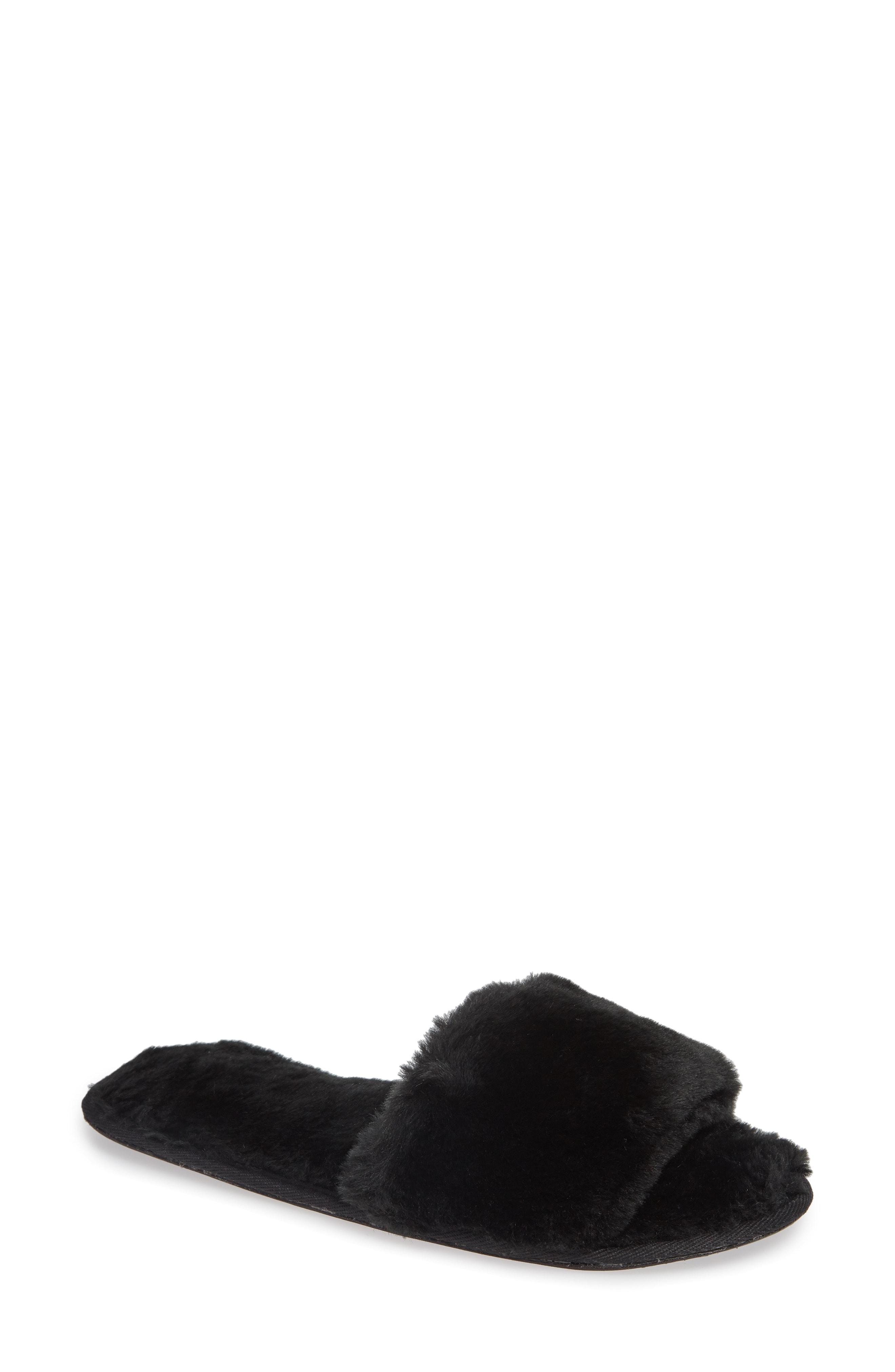 The White Company Faux Fur Slide Slipper (Women)