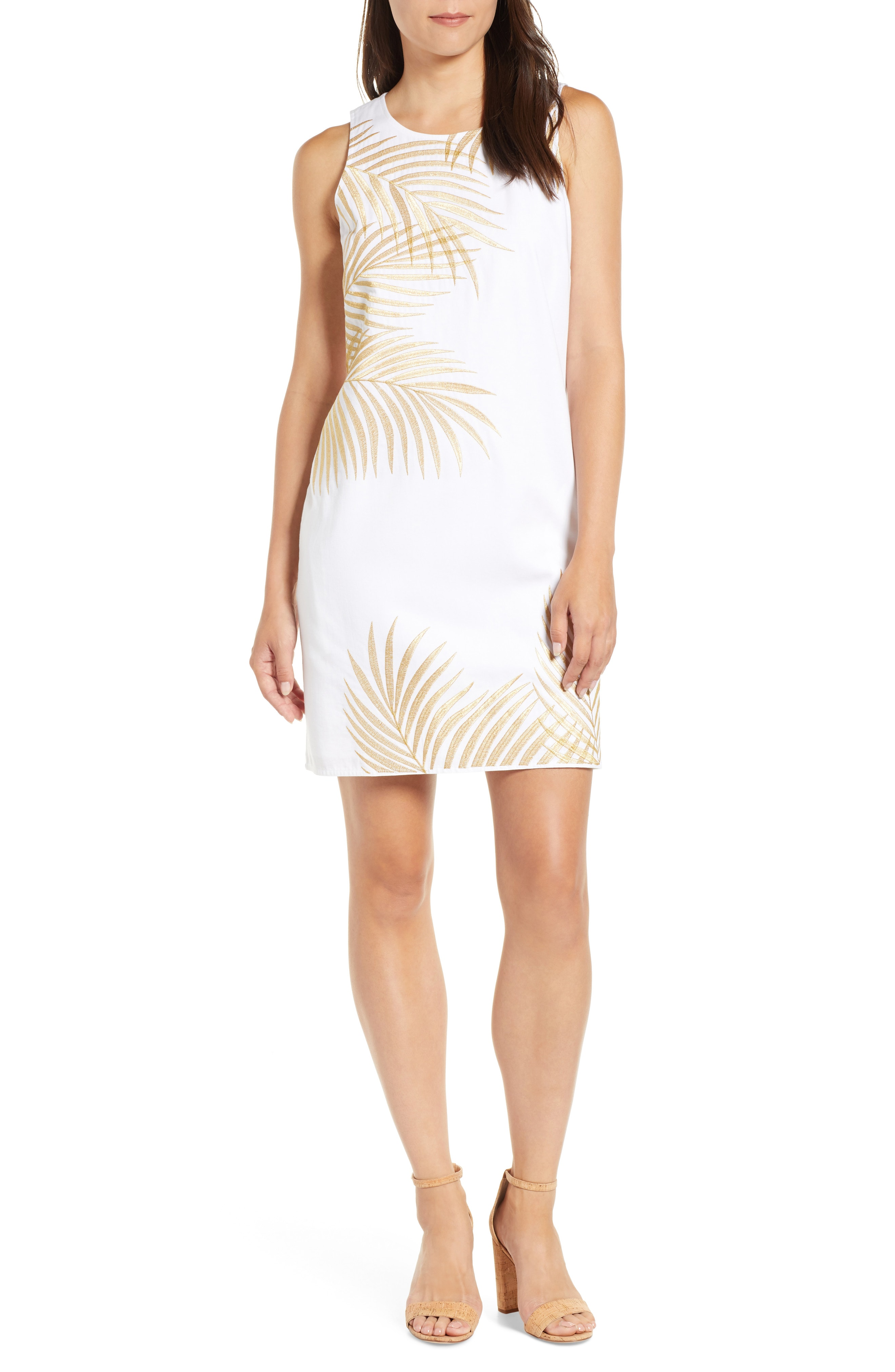 Tommy Bahama Lanailette Embroidered Shift Dress
