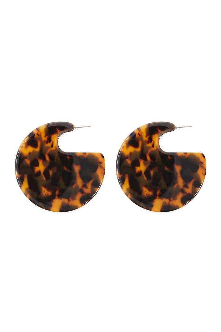 F21 Tortoiseshell Disc Drop Earrings