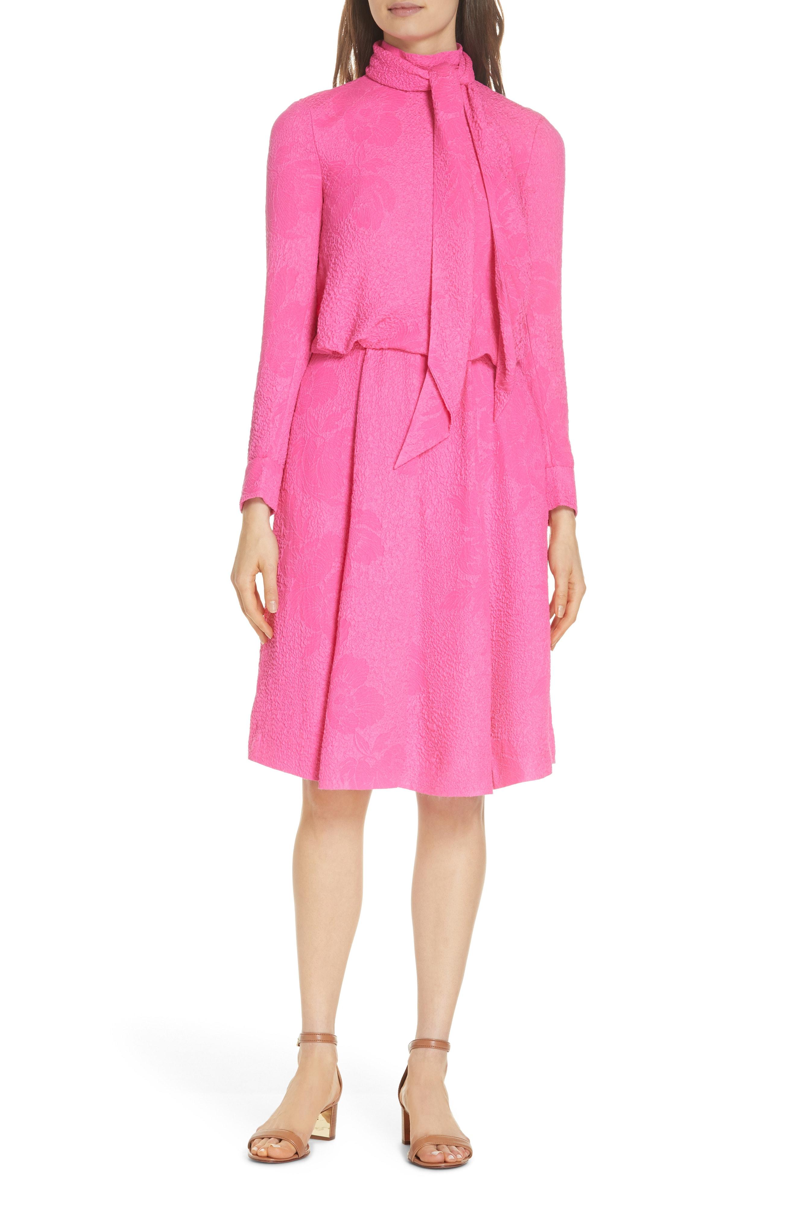 Tory Burch Brielle Textured Silk Dress