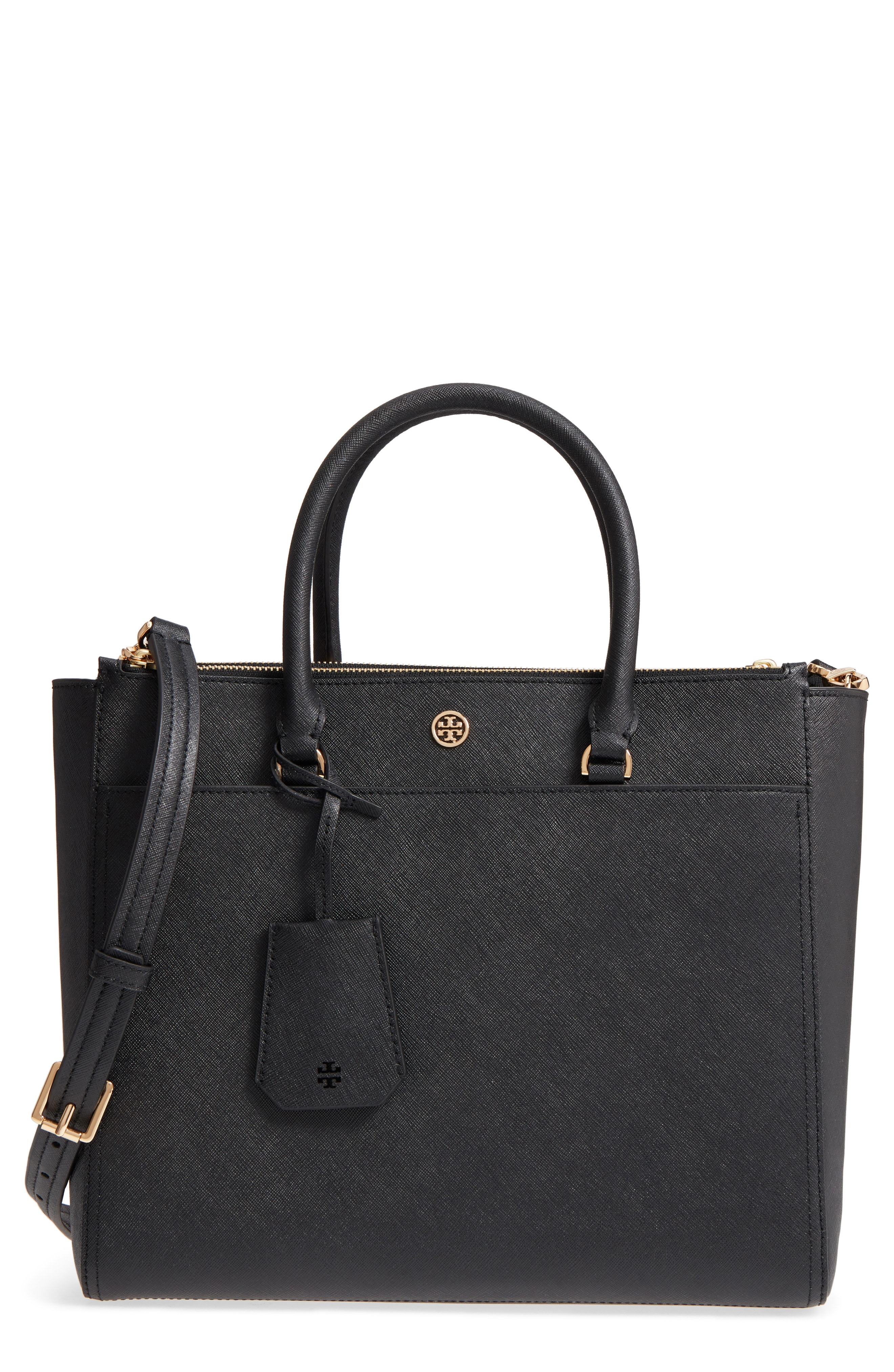 Tory Burch Robinson Double-Zip Leather Tote