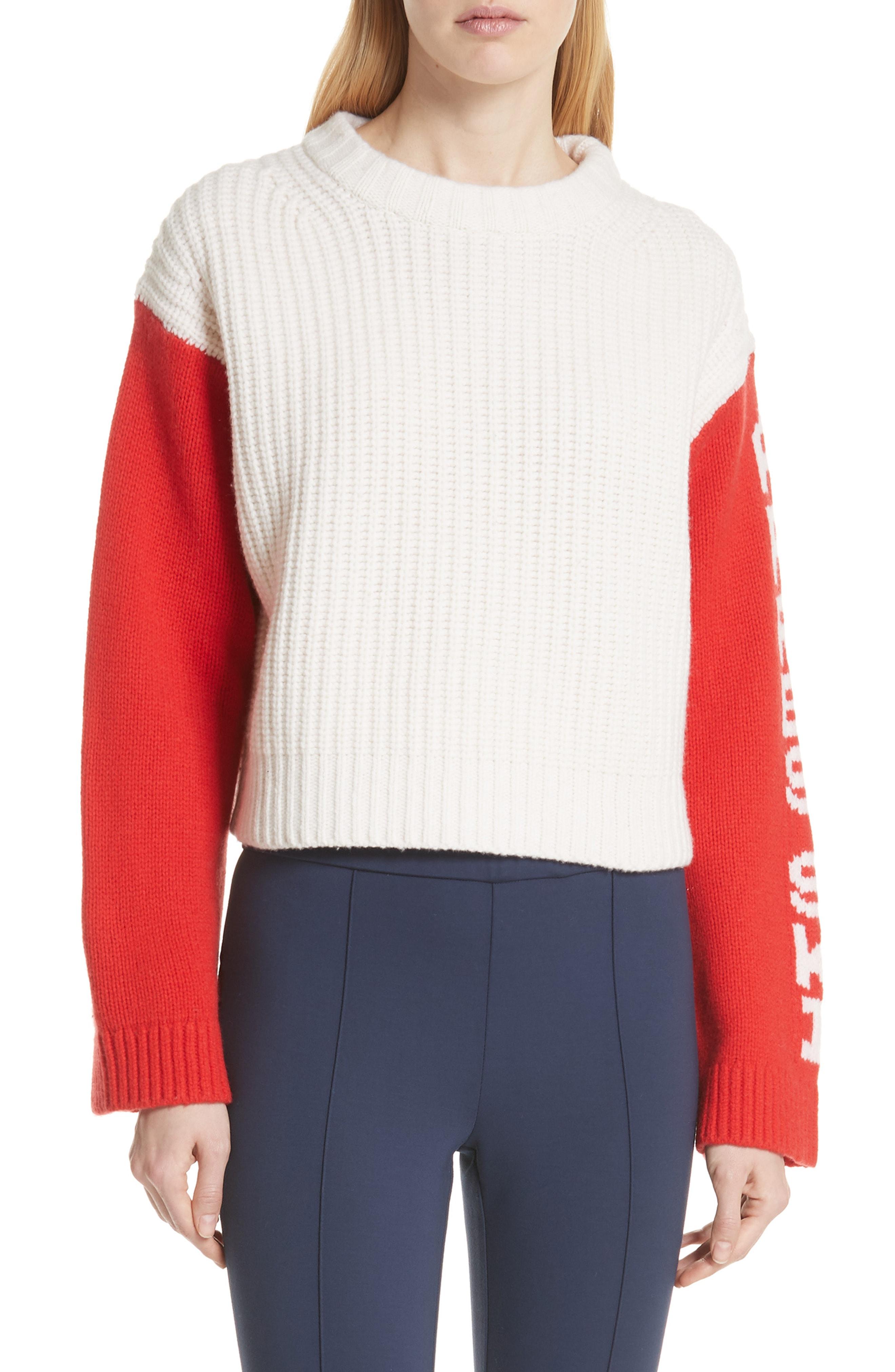 Tory Sport Crop Apres Ski Sweater