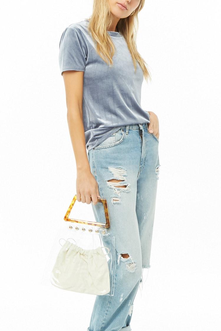F21 Transparent Trapezoid Handbag