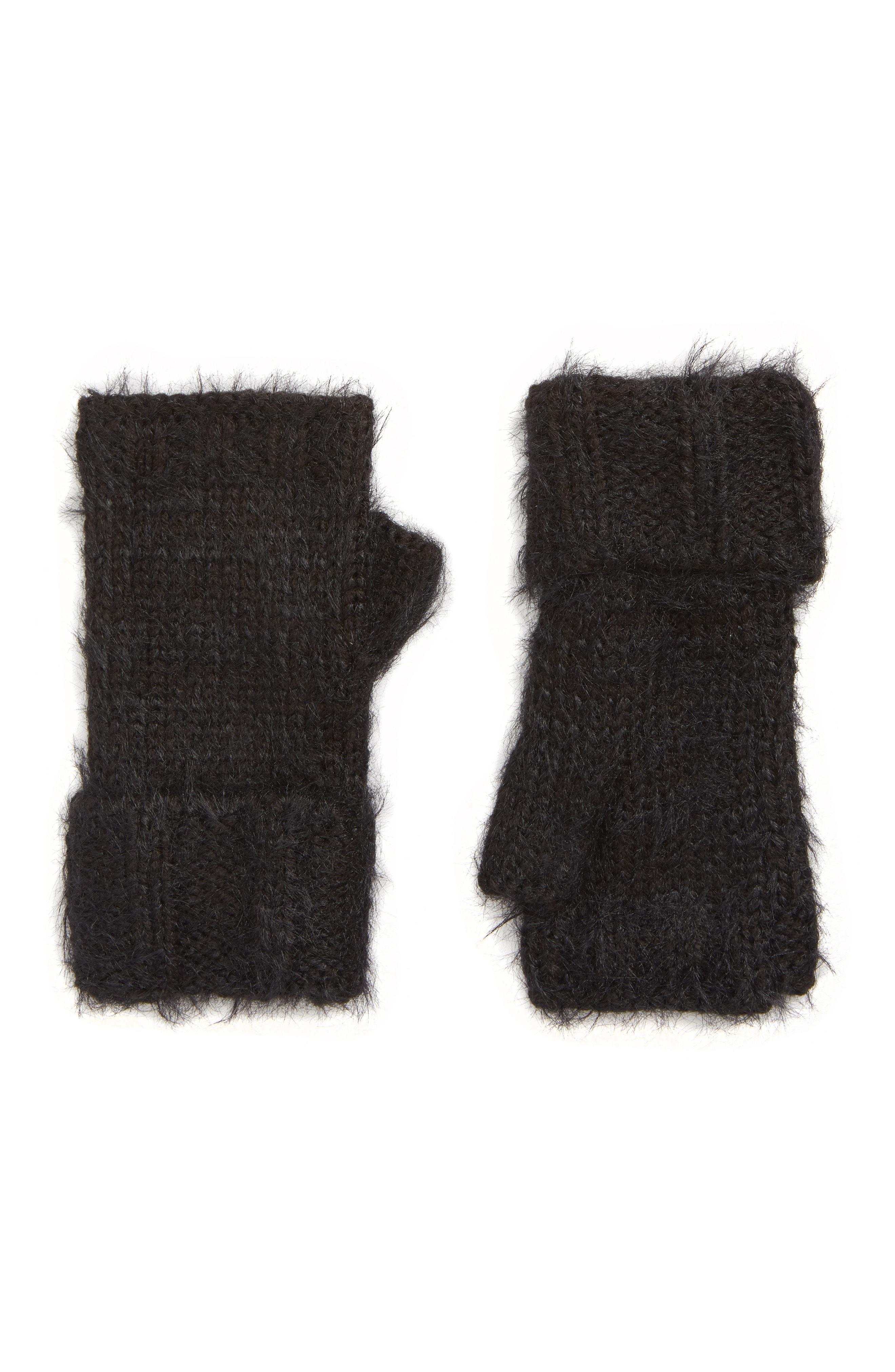 Treasure & Bond Eyelash Fingerless Gloves