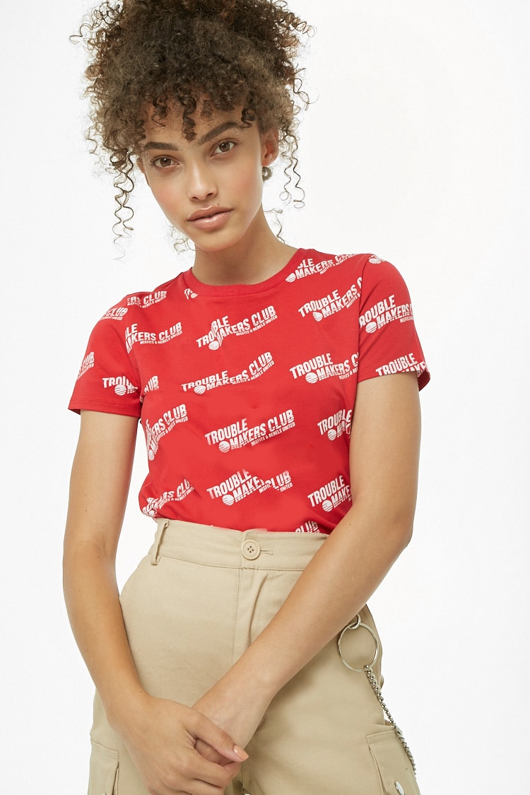 F21 Trouble Makers Club Graphic Tee