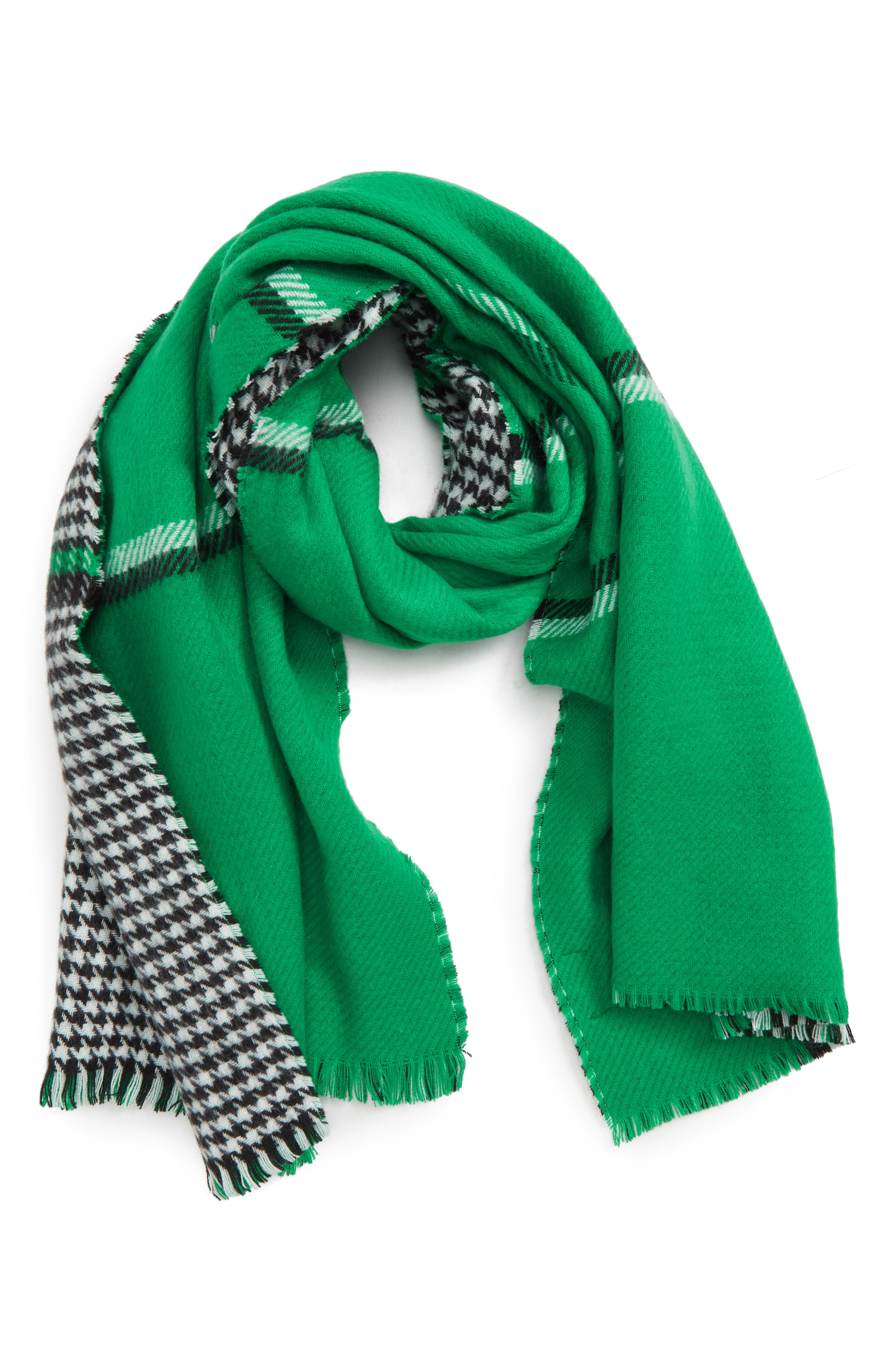 Trouv Double Sided Check Blanket Scarf