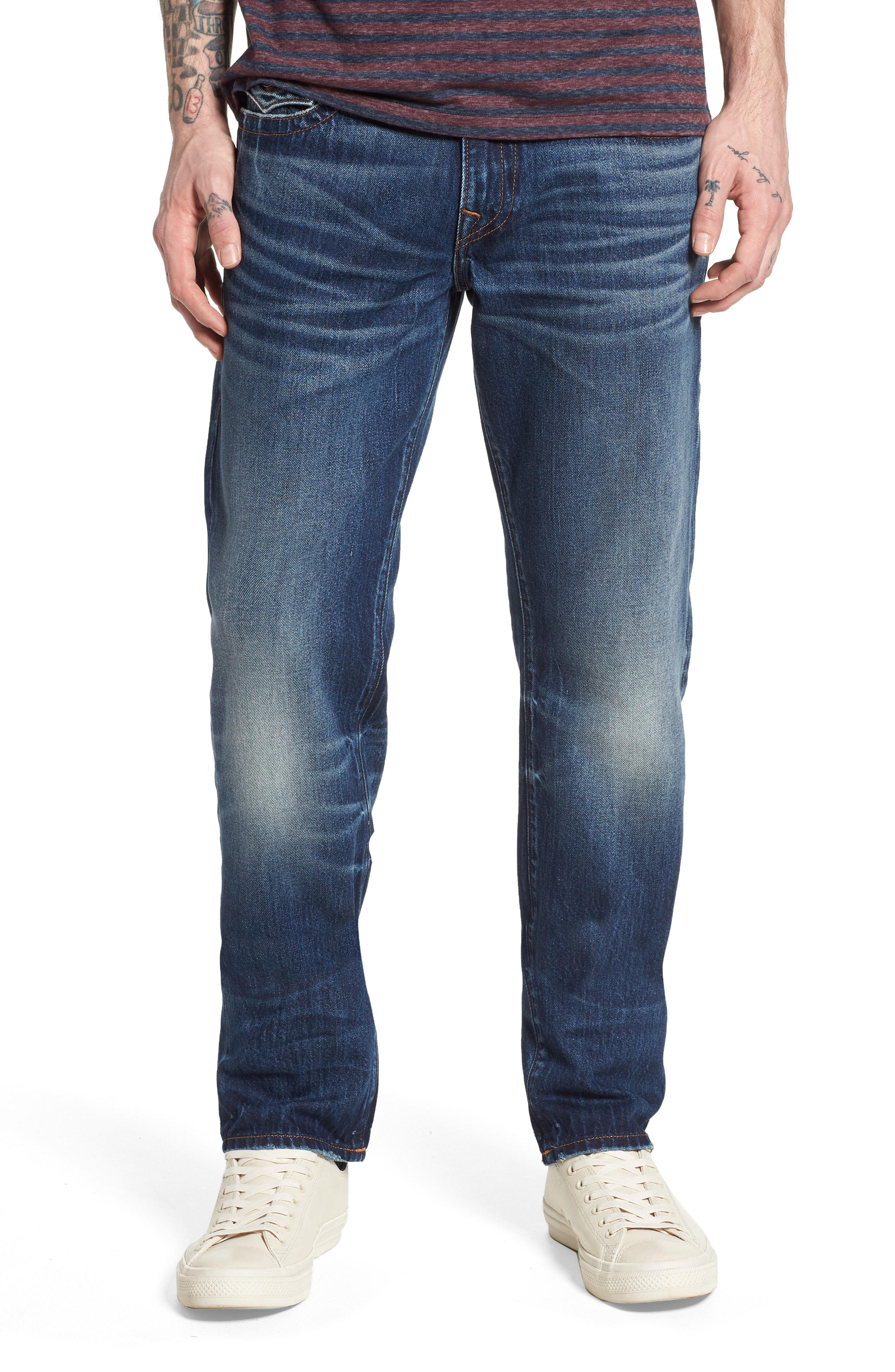 True Religion Brand Jeans Geno Straight Leg Jeans (Dark After Hours)