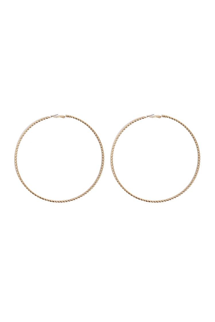 F21 Twisted Hoop Earrings