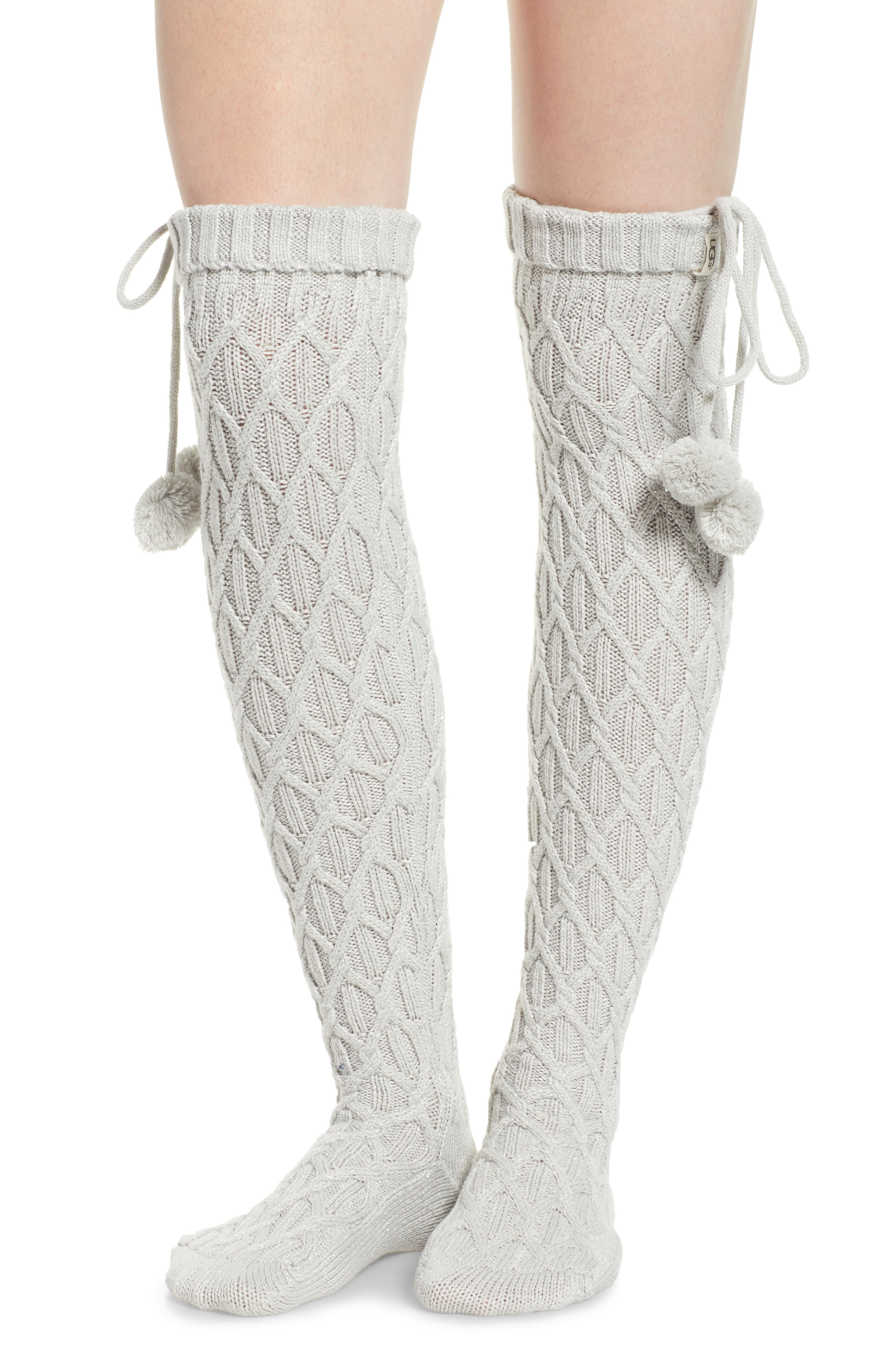 UGG Sparkle Cable Knit Over the Knee Socks