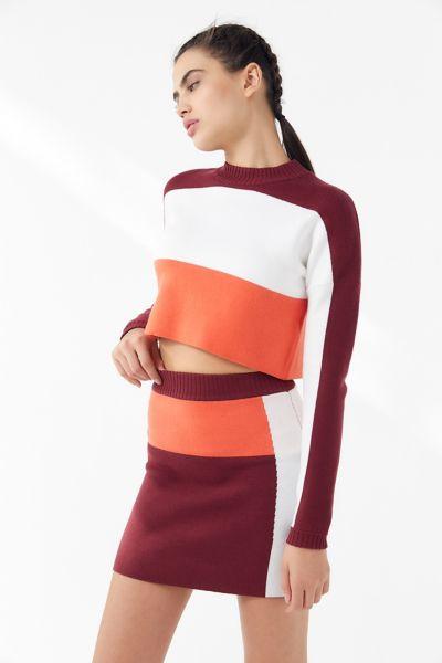 UO Asa Colorblock Mini Skirt
