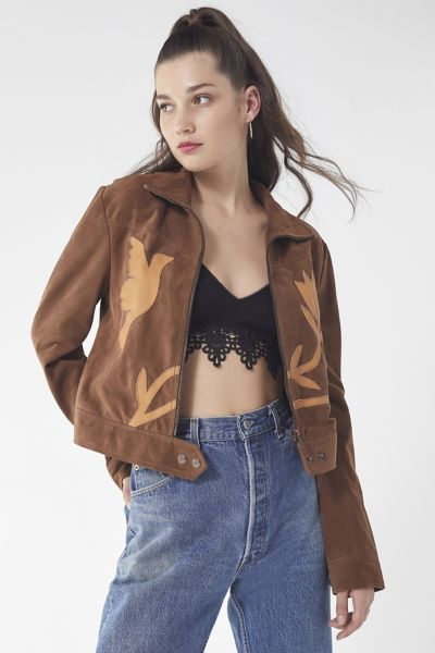 UO Birds Of A Feather Suede Gas Jacket
