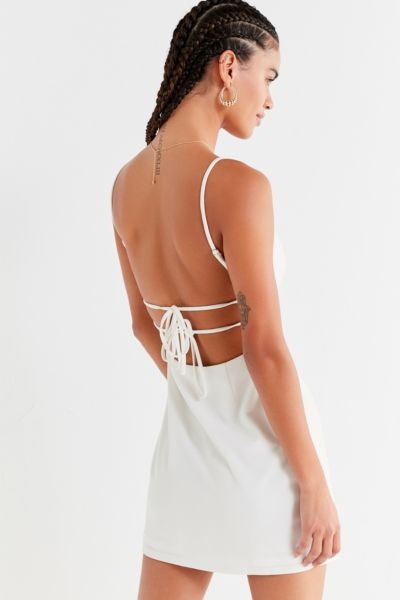 UO Bodycon Tie-Back Mini Dress