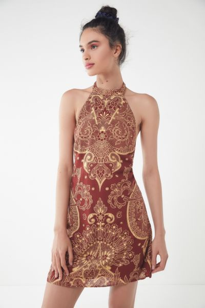 UO Catalina Printed Halter Dress