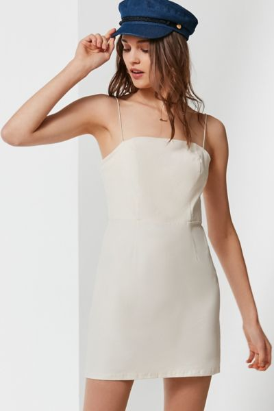 UO Colette Stretch Linen Mini Dress
