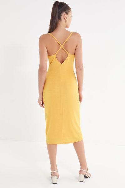 UO Cowl Neck Crepe Midi Dress