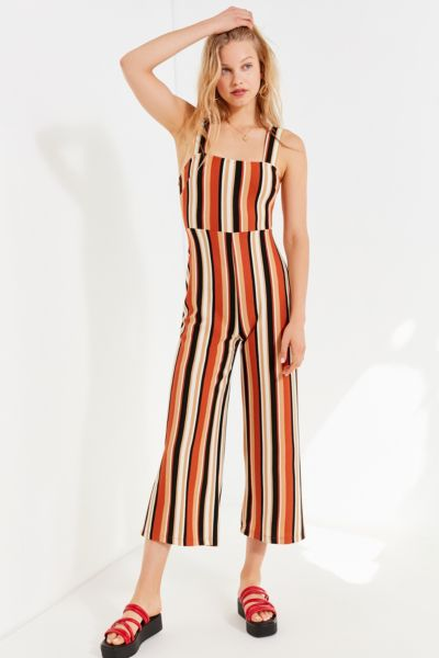 UO Delany Straight-Neck Striped Jumpsuit