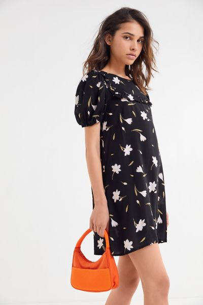 UO Everly Floral Puff Sleeve Babydoll Dress