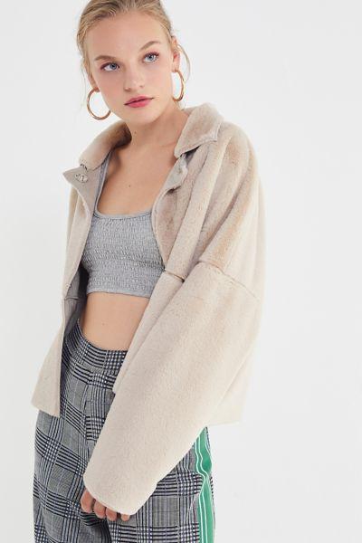 UO Felicity Reversible Faux Fur Jacket