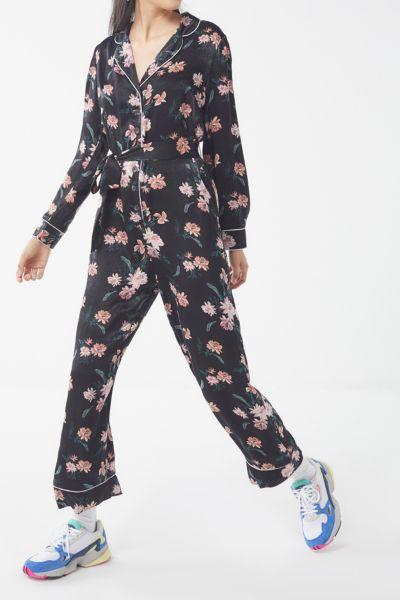 UO Floral Button-Down Jumpsuit
