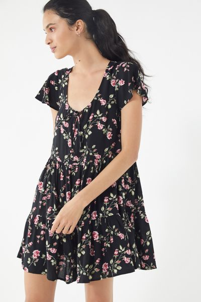 UO Floral Tiered Babydoll Dress