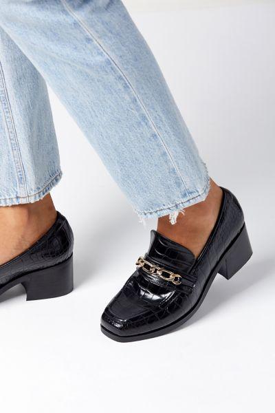 UO Gema Chain Trim Heeled Loafer