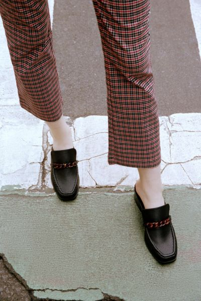 UO Gia Chain Trim Heeled Loafer