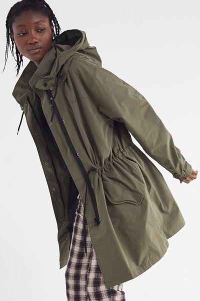 UO Hooded Longline Parka Coat