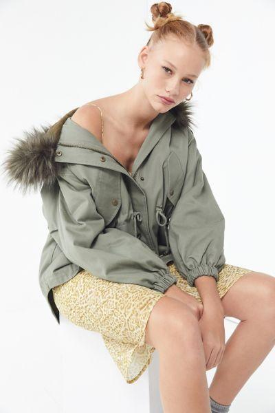 UO Hooded Parka Coat