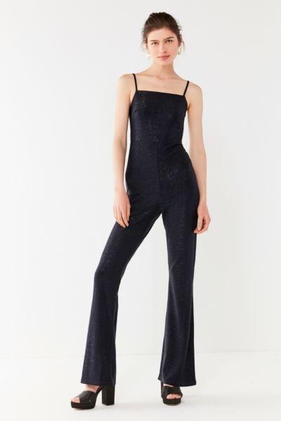 UO Iris Square-Neck Glitter Jumpsuit