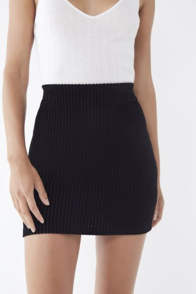 UO Jersey Corduroy Mini Skirt