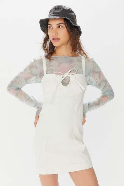 UO Kia Denim Keyhole Cutout Mini Dress