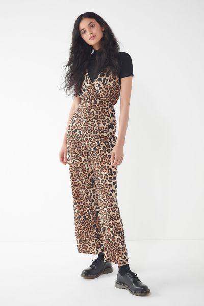 UO Leopard Print Surplice Jumpsuit