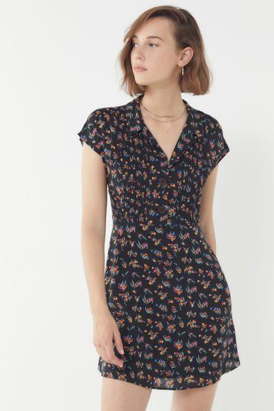 UO Nancy Short Sleeve Shirt Dress