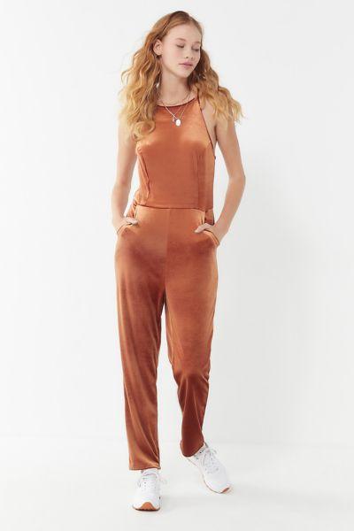UO Naomi Velvet Jumpsuit