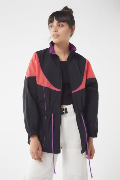 UO Nylon Colorblock Windbreaker Jacket