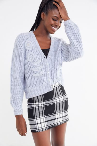 UO Out To Play Plaid Mini Skirt