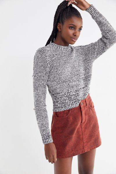 UO Overdyed Snake Print Mini Skirt