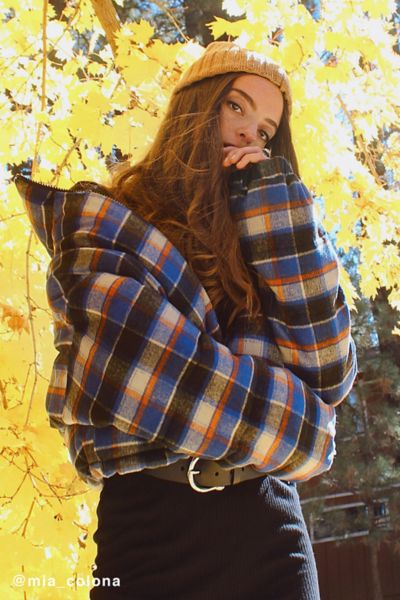 UO Plaid Puffer Jacket