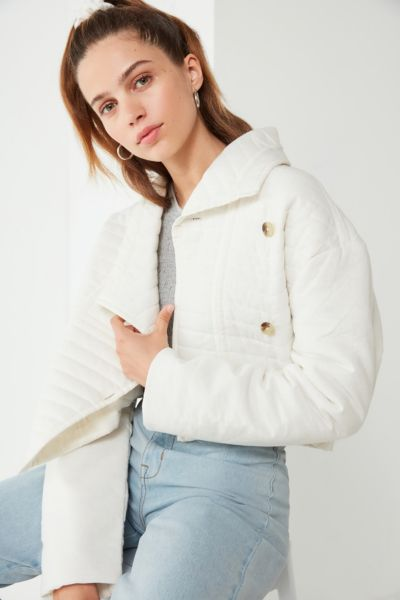 UO Quilted Canvas Cropped Jacket
