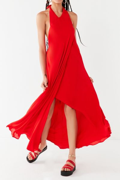 UO Sister High-Halter Maxi Dress
