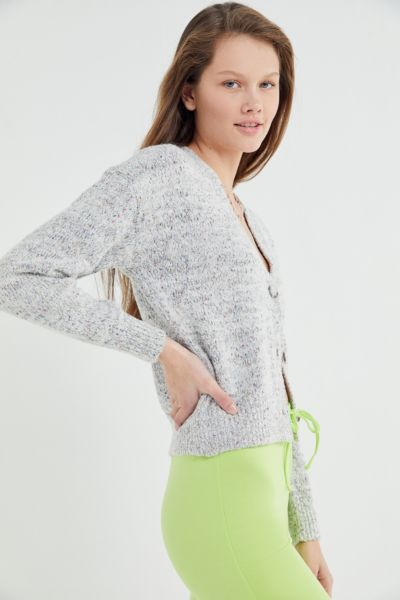 UO Speckled Button-Front Nep Cardigan
