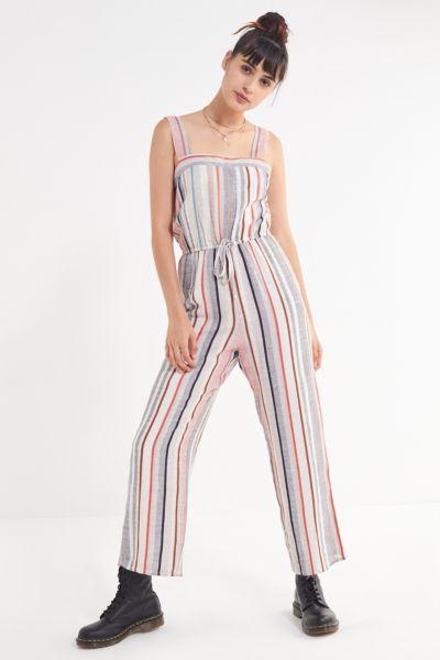 UO Striped Linen Jumpsuit