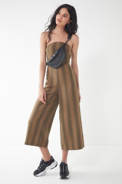 UO Striped Strapless Jumpsuit