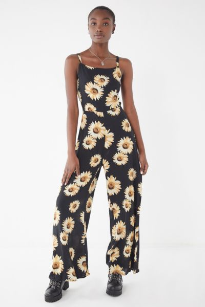 UO Sunflower Tie-Back Jumpsuit