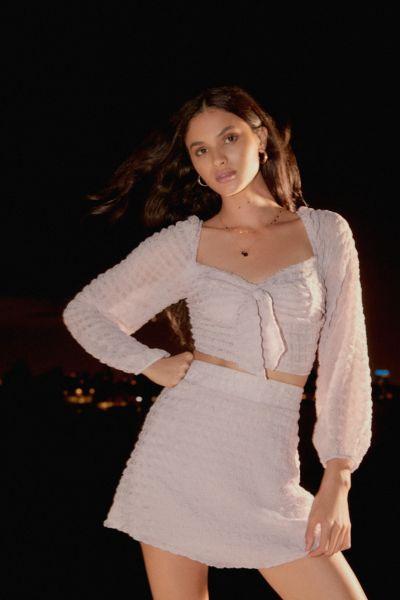 UO Violetta Textured Mini Skirt
